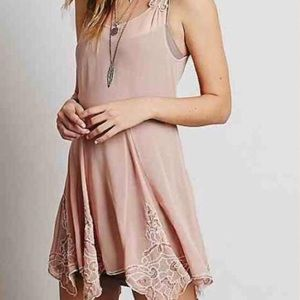 Free People Beads for Days Sheer Pink Tunic • S